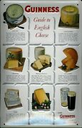 Guinness Cheese Tin Sign Shield 3d Embossed Arched 7 7/8x11 13/16in