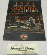 1994 Harley-davidson Genuine Parts And Accessories Book Catalog