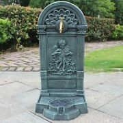 Antique Cast Iron Standing Hand Sink With Engraved Angel Home Garden Handmade