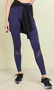 Barry's Alala Fitted Tights Yoga Workout Pants Midnight Navy Mesh Msrp 95 Sz S