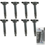 8 Pack Engine Ignition Coil And Grease For 06-17 Toyota Lexus 2.5l 2494cc 152cu V8