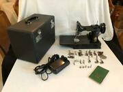 Vintage 1950 Singer Featherweight Electric Portable / Model 221-1