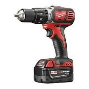 Milwaukee M18 1/2 In. Compact Hammer Drill / Driver W/ 2 Batteries Kit