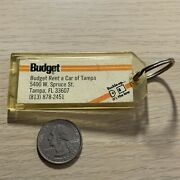 Budget Rent A Car Tampa Florida Toyota Camry Rental Fob Keychain Key Ring 40191