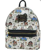 Loungefly Disneyandrsquos Aladdin Tattoo Aop Mini Backpack Exclusive Preorder Nwt