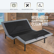 Adjustable Queen Bed Frame W/ Dual Usb Charging Ports Remote Control Massage