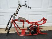 Minibike Frame With Engine Red Lowrider Moped Scooterpocket Bike Go Kart