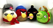 Lot Of 4 Rare Plush Angry Birds Squeaky Toys -2012 Christmas Collection By Hartz