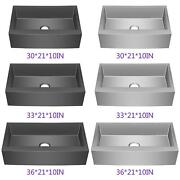 30/33/36 Stainless Steel Single Bowl 18g Curve Apron Kitchen Farm Sink Combo