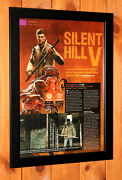 Silent Hill V Homecoming Ps3 Xbox 360 Old Rare Mini Promo Poster Ad Page Framed