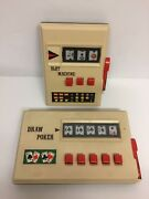 Vintage Battery Operated Waco Slot Machine And Draw Poker Handheld Faulty Repair