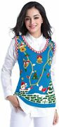 V28 Ugly Christmas Sweater For Women Reindeer Funny Merry Knit Sweaters Vest