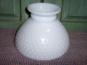 Vintage White Milk Glass Hobnail Hurricane Table Lamp Replacement Globe Shade