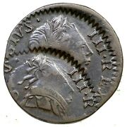 1773 Dbl Struck George Iii British Imitation Farthing Colonial Copper Coin