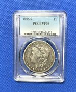 1892-s Silver Morgan Dollar Pcgs V30 Low Mintage Nice Coin Nice Clear Holder