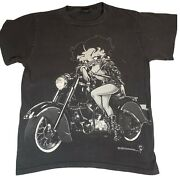 Vintage Betty Boop Motorcycle Club 1994 T- Shirt Size M Changes Tag