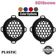 Advanblack Xbs Color Match Hex Speaker Grills For 2013down Electric Street Glide