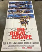 The Great Escape Three Sheet Movie Poster Steve Mcqueen 1963 Hollywood Posters