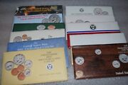 1985-1995 Us Mint 11 Uncirculated Sets Coins P And D In Ogp And Coaand039s As Issued
