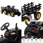 Kids Ride On Tractor Trailer 12v Electric Toy Safety Belt Vehicle Remote Control