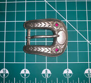 Holland's San Angelo Sterling Silver And Ruby Ranger Belt Buckle