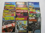 Lot Of 30 Vintage Motorcycle Magazines 70s And 80s Chopper Supercycle Iron Horse