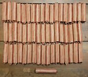 Huge Lot Of 53 Rolls 2,650 Pennies 1909-1958 Lincoln Wheat Cents - Free Ship