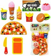 Toddler Fast Food Lunch Play Pizza Set Toy Toddlers Kitchen Playsets Kitchen Set