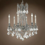 Joshua Marshal 701592-003 Versailles 6 Light 23 Pewter Chandelier With Clear