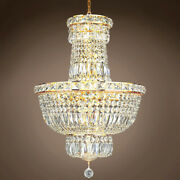 Joshua Marshal 701254-006 Invisible Design 12 Light 18 Gold Chandelier W/clear
