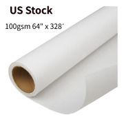 Us Stock Andmdash100gsm 64 X 328andacute High Tacky / Sticky Sublimation Transfer Paper 1roll