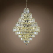 Joshua Marshal 702058-002 Milan 20 Light 30 Gold Chandelier With Clear Asfour