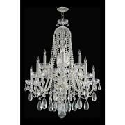 Crystorama 1110-ch-cl-mwp Ten Light Polished Chrome Up Chandelier