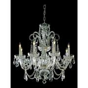 Crystorama 5008-pb-cl-s Eight Light Polished Brass Up Chandelier