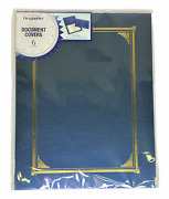36 Count Geographics Classic Certificate Covers Blue Metallic 47401