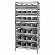 Quantum Storage Systems Wr8-443 Stackable Shelf Bin Steel Shelving Systems