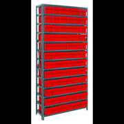 Quantum Storage Systems 1275-601 Steel Shelving With Plastic Bins