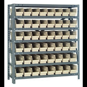 Quantum Storage Systems 1239-101 Steel Shelving With Plastic Bins