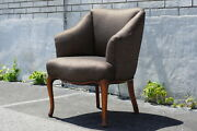 Country French Desk Vanity Maple Wood Chair 1930's Newly Upholstered And Restored