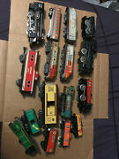 Lot Of 15 Tin Litho Train Cras And Engines Alps/ Mar / Lionel / Japan