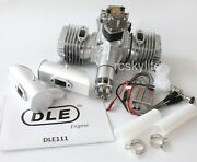 Dle111 111cc Rc Model Airplane Petrol Gas Engine Motor With Mufflers