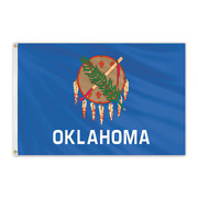 Global Flags Unlimited 200550 Oklahoma Outdoor Nylon Flag 12and039x18and039