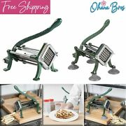 Commercial French Fry Cutter Countertop Potato Vegetable Slicer Iron Blade