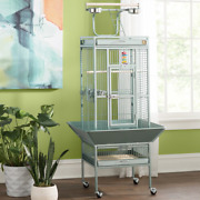 New Bremer Steel Play Top Floor Premium Quality Modern Bird Cage Wheels Included