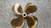 Rh 4 Blade Prop 20 Diameter X 21 Pitch 1.25 To 1.375 Tapered Shaft Used