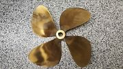 Lh 4 Blade Prop 20 Diameter X 21 Pitch 1.25 To 1.375 Tapered Shaft Used