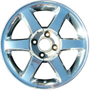 Oem 16x6.5 Alloy Wheel Sparkle Silver Ptd W/machined Face And No Sticker 03378