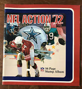 1972 Sunoco Nfl Action Stamp Album Unused - Stamps - 144 Stamps -6 Sheets Intact