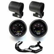 Aem 2 Gauge Kit 52mm Oil Pressure And Uego Wideband Air Fuel Ratio W/ Mounting Cup
