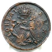 C1670 1c.7-ca.3 R-6+ Pcgs Xf Details St. Patrick Farthing Colonial Copper Coin